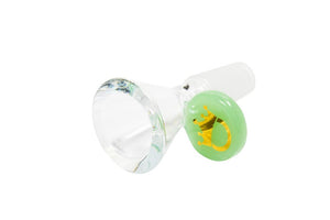 LMAO Cone Bowl 14mm Milky TY Green