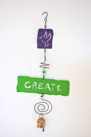 CREATE Hummingbird Affirmation Chime