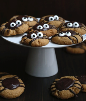 Chocolate & Peanut butter Spider Cookies