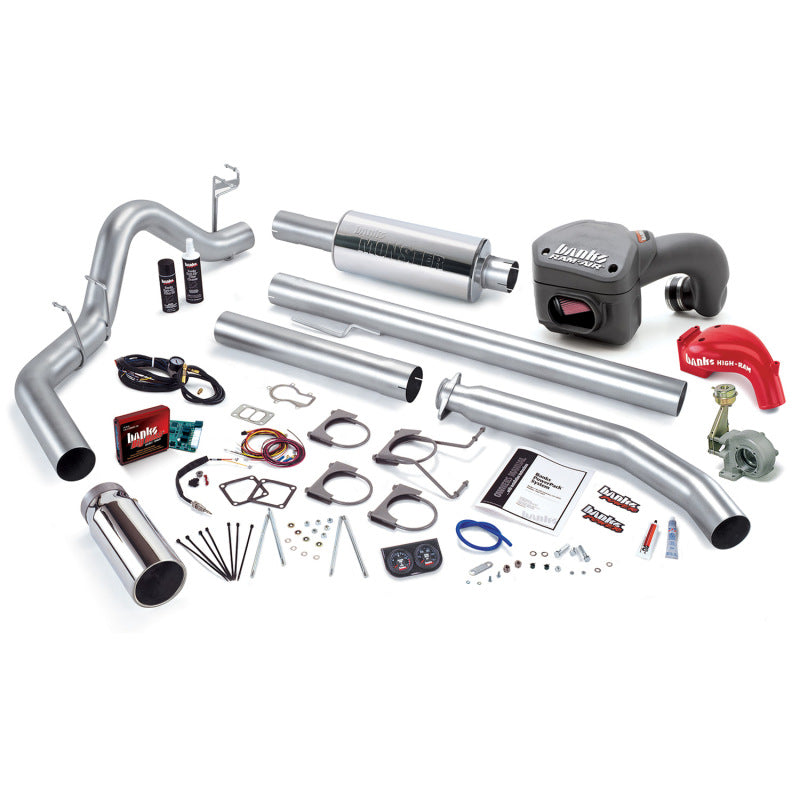 Banks Power 01 Dodge 5.9L 245Hp Ext Cab PowerPack System - SS Single Exhaust w/ Chrome Tip