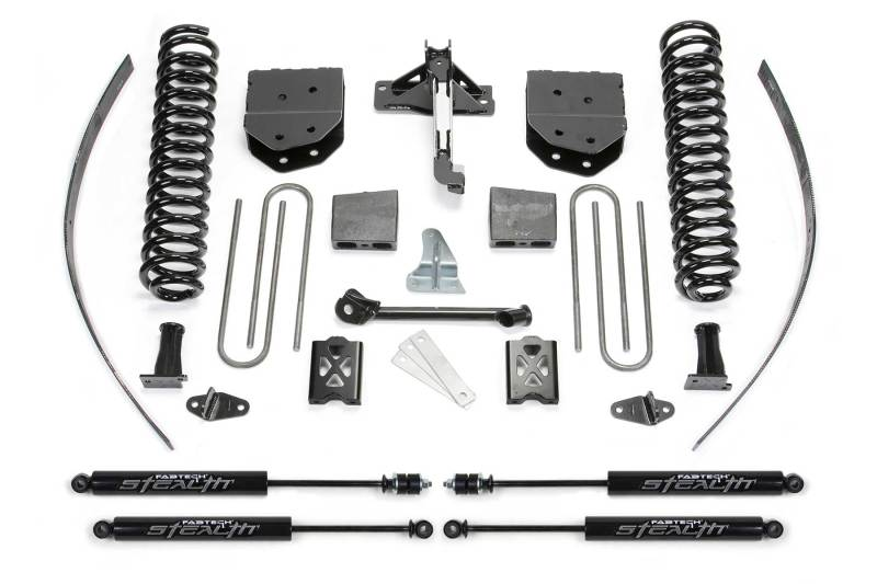 Fabtech 05-07 Ford F250 4WD w/Overload 8in Basic System w/Stealth Shocks