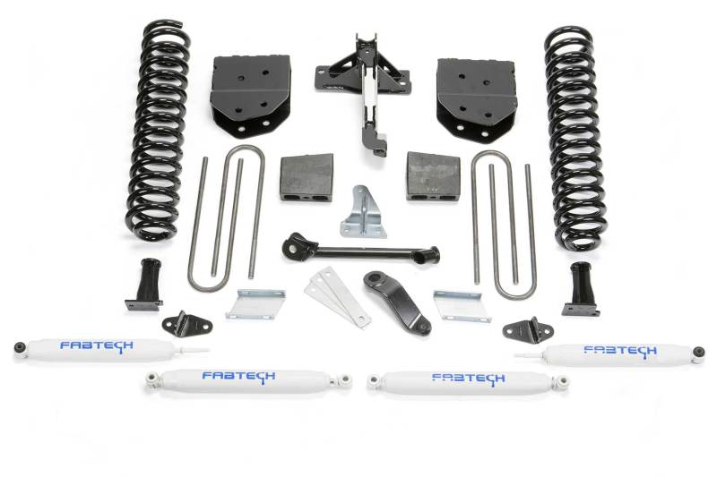 Fabtech 08-16 Ford F250 4WD 6in Basic System w/Perf. Shocks