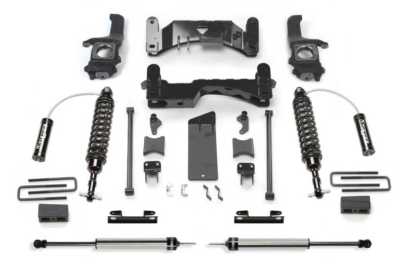Fabtech 07-15 Toyota Tundra 2WD/4WD 6in Perf. System w/DL 2.5 Resi Coilovers & Rear DL Shocks