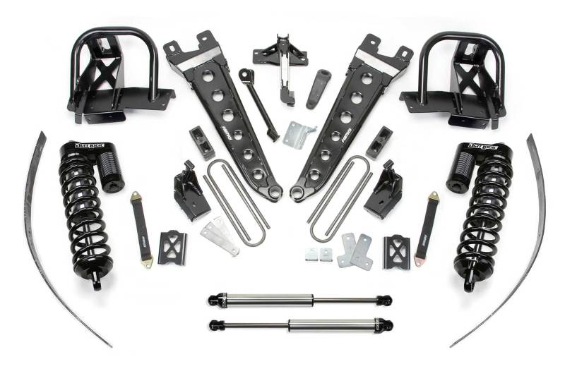 Fabtech 11-16 Ford F250 4WD w/o Overload 8in Radius Arm System w/DL 4.0 Coilovers & Rear DL Shocks