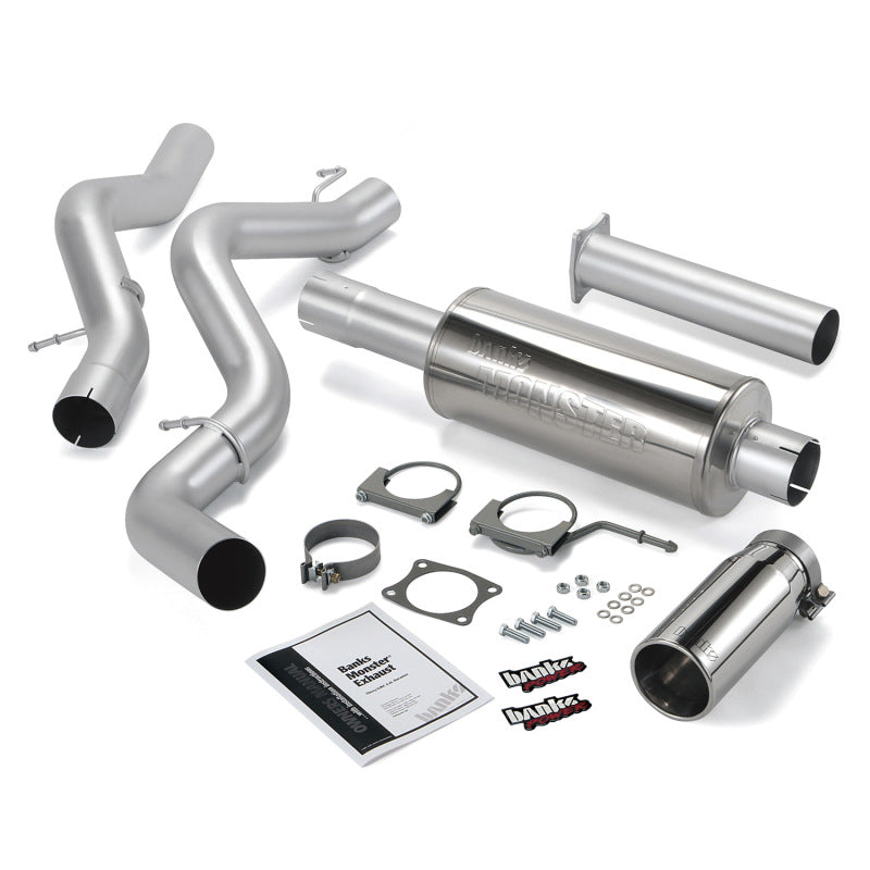 Banks Power 02-05 Chevy 6.6L SCLB Monster Exhaust System - SS Single Exhaust w/ Chrome Tip