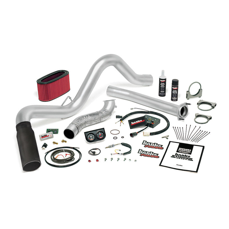 Banks Power 95.5-97 Ford 7.3L Man Stinger System - SS Single Exhaust w/ Black Tip
