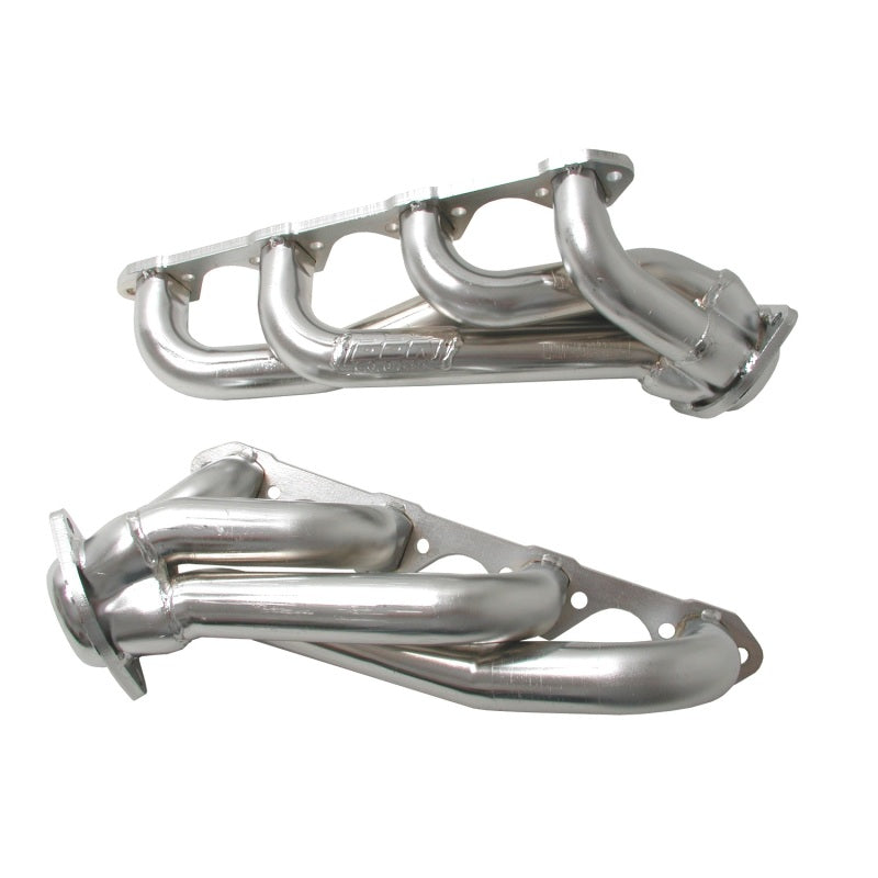BBK 87-95 Ford F150 Truck 5.8 351 Shorty Unequal Length Exhaust Headers - 1-5/8 Silver Ceramic