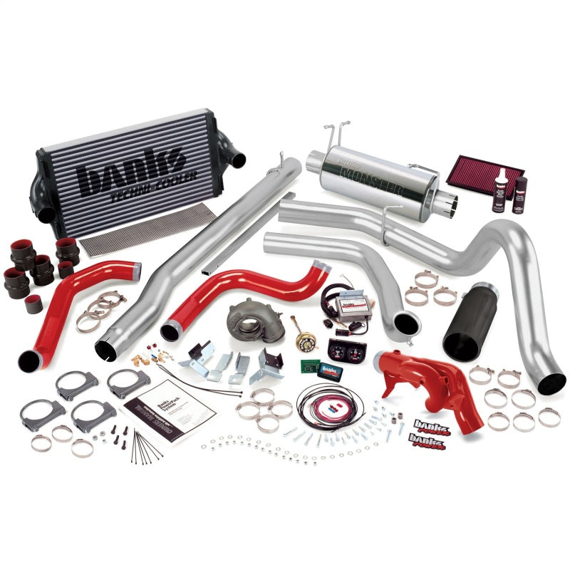 Banks Power 99 Ford 7.3L F250/350 Auto PowerPack System - SS Single Exhaust w/ Black Tip