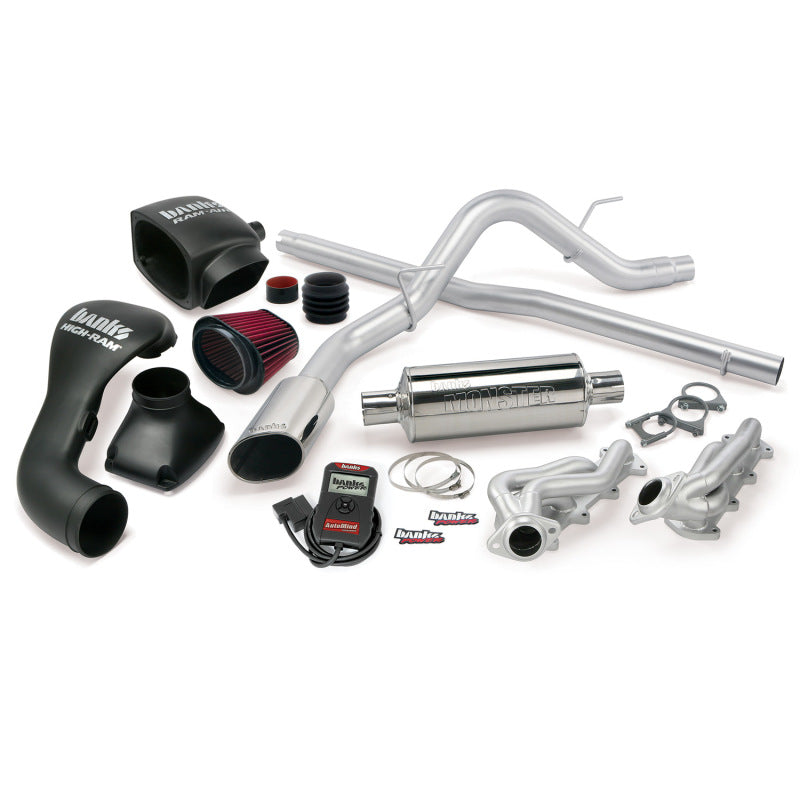 Banks Power 04-08 Ford 5.4L F-150 CCSB PowerPack System - SS Single Exhaust w/ Chrome Tip