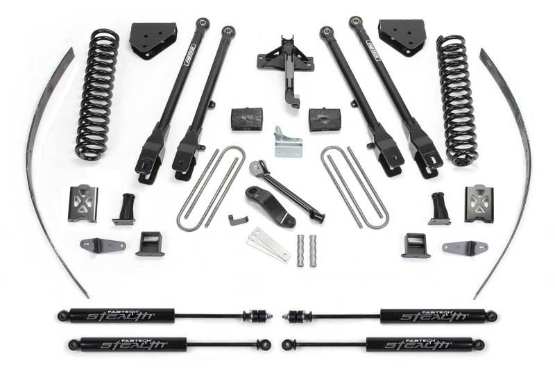 Fabtech 05-07 Ford F350 4WD 8in 4 Link System w/Stealth Shocks