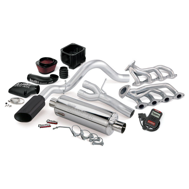 Banks Power 99-01 Chevy 4.8-5.3L W-A/I 1500-ECSB PowerPack System - SS Single Exhaust w/ Black Tip