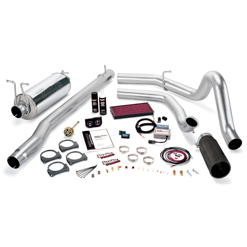 Banks Power 99.5 Ford 7.3L F250/350 Auto Stinger System - SS Single Exhaust w/ Black Tip