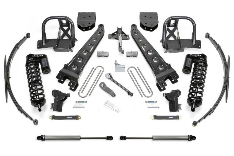 Fabtech 11-16 Ford F250 4WD 10in Radius Arm System w/DL 4.0 Coilovers & Rear DL Shocks
