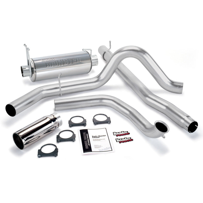 Banks Power 99-03 Ford 7.3L Monster Exhaust System - SS Single Exhaust w/ Chrome Tip
