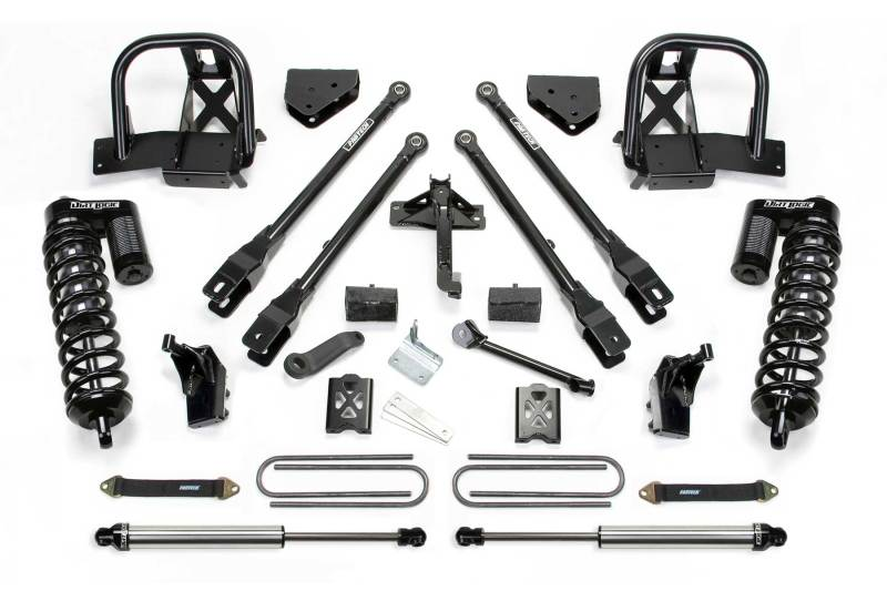 Fabtech 08-10 Ford F250 4WD 6in 4 Link System w/DL 4.0 Coilovers & Rear DL Shocks