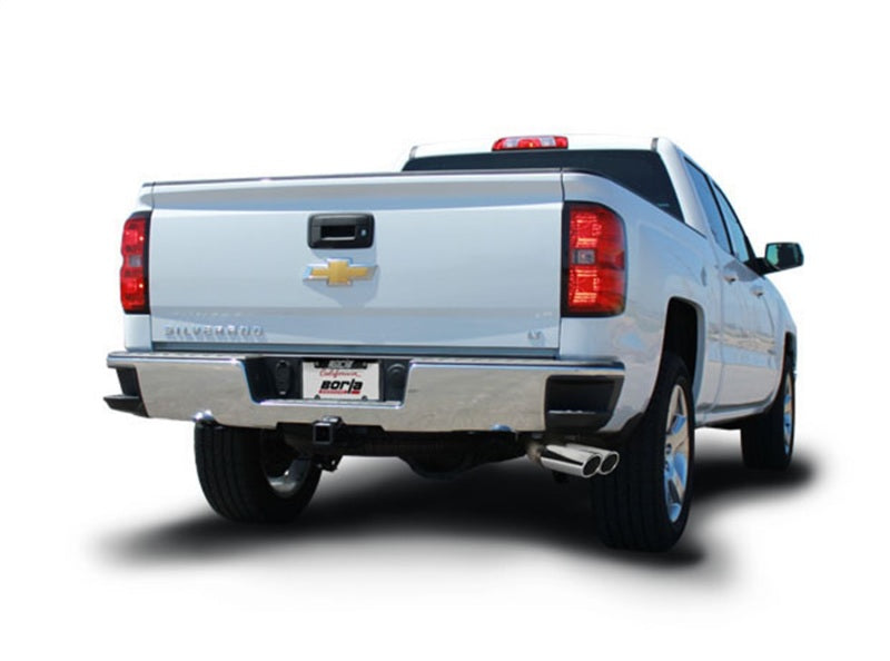 Borla S-Type Cat-Back 14 Sierra 1500 Ext. Cab Stnd Bed/CC Short Bed 143.5in WB Side Exit Exhaust