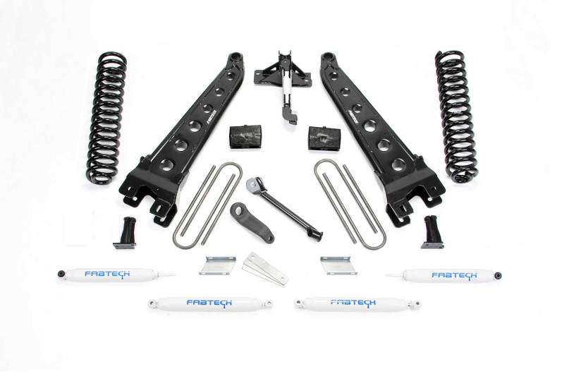 Fabtech 17-20 Ford F250/350 4WD Diesel 4in Radius Arm System w/Perf. Shocks