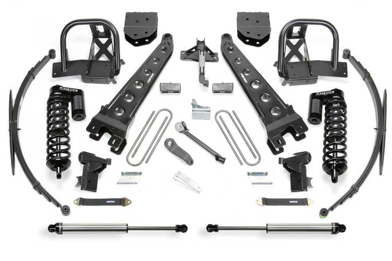 Fabtech 11-16 Ford F350 4WD 10in Radius Arm System w/DL 4.0 Coilovers & Rear DL Shocks