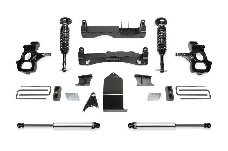 Fabtech 14-18 GM C/K1500 w/OE Alum. UCA 4in Perf. System w/DL 2.5 Coilovers & Rear DL 2.25 Shocks