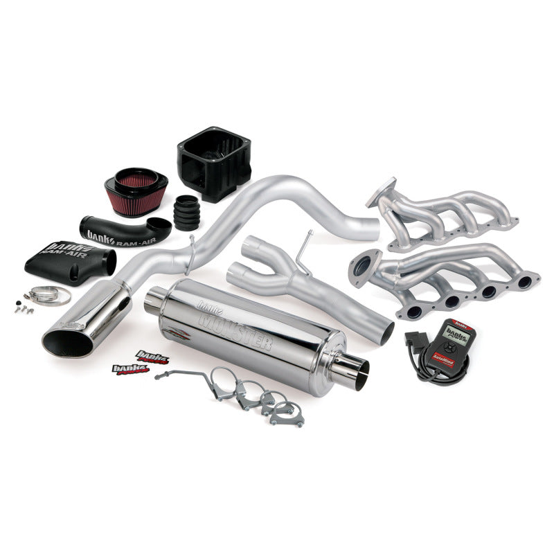 Banks Power 10 Chevy 5.3L CCSB FFV PowerPack System - SS Single Side-Exit Exhaust w/ Chrome Tip