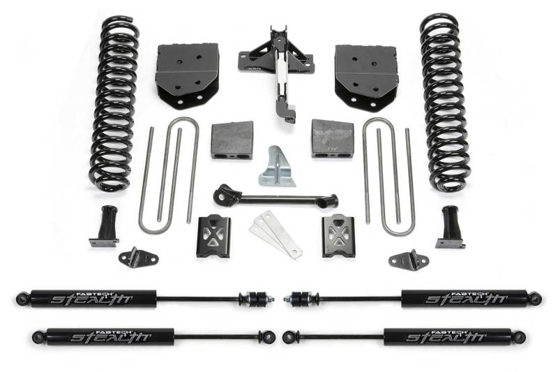 Fabtech 05-07 Ford F250 4WD w/Overload 6in Basic System w/Stealth Shocks