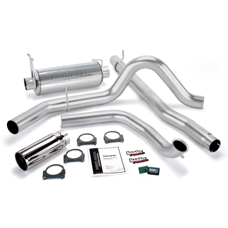Banks Power 01-03 Ford 7.3L w/Cat Conv Git-Kit - SS Single Exhaust w/ Chrome Tip
