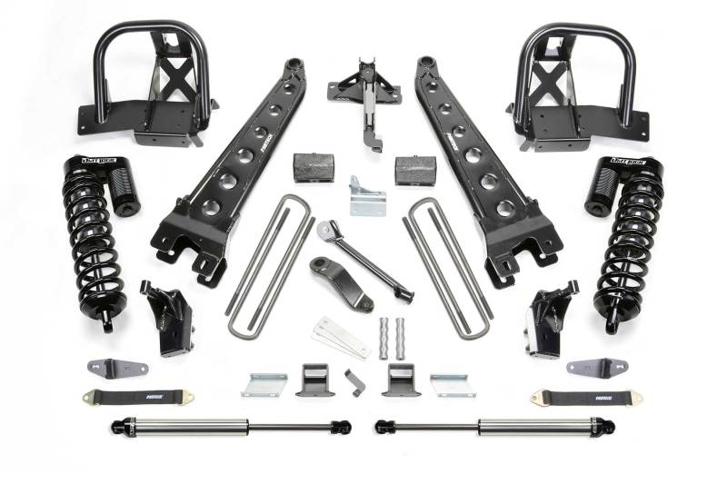 Fabtech 11-16 Ford F250 4WD 4in Radius Arm System w/DL 4.0 Coilovers & Rear DL Shocks