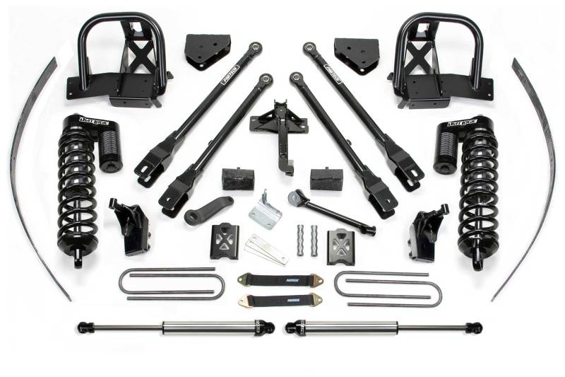Fabtech 05-07 Ford F250 4WD w/Overload 8in 4 Link System w/DL 4.0 Coilovers & Rear DL Shocks