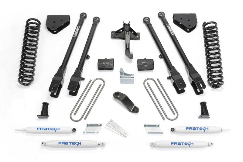 Fabtech 08-16 Ford F250/350 4WD 4in 4 Link System w/Perf. Shocks