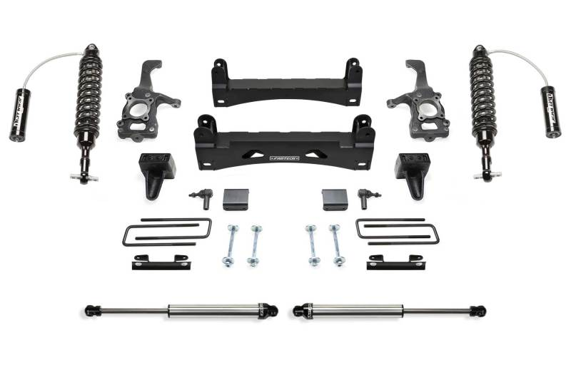 Fabtech 15-18 Ford F150 2WD 6in Perf. System w/DL 2.5 Resi Coilovers & Rear DL 2.25 Shocks