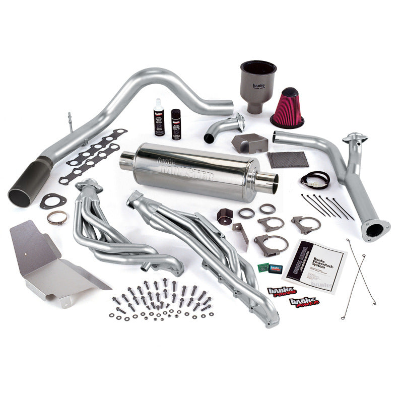 Banks Power 99-04 Ford 6.8L Truck EGR-Early Cat PowerPack System - SS Single Exhaust w/ Black Tip