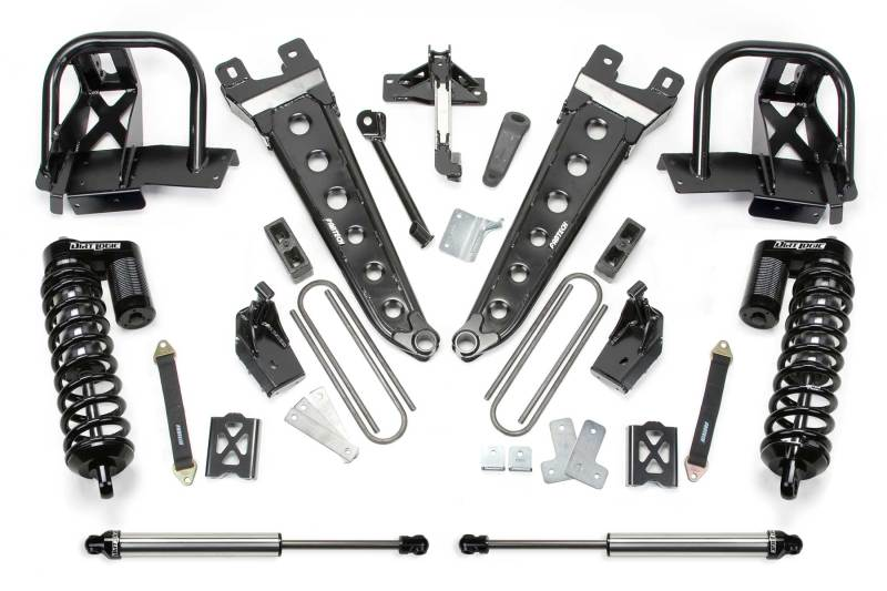 Fabtech 08-10 Ford F250 4WD 6in Radius Arm System w/DL 4.0 Coilovers & Rear DL Shocks