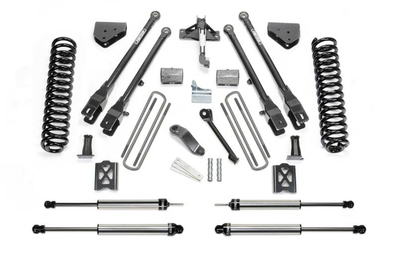 Fabtech 05-07 Ford F250 4WD w/Overload 6in 4 Link System w/DL Shocks