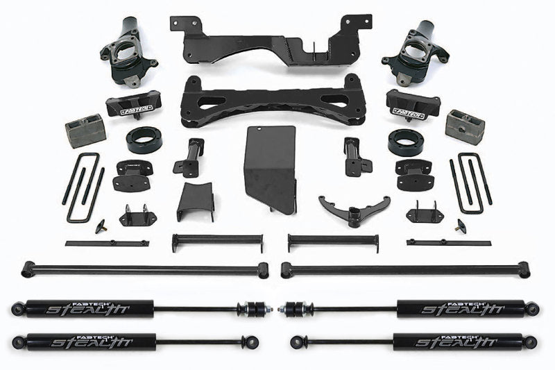 Fabtech 01-10 GM C/K2500HD C/K3500 Non Dually 6in Perf. System w/Stealth Shocks