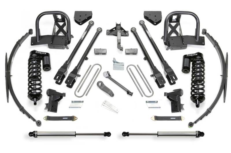 Fabtech 11-16 Ford F350 4WD 10in 4 Link System w/DL 4.0 Coilovers & Rear DL Shocks