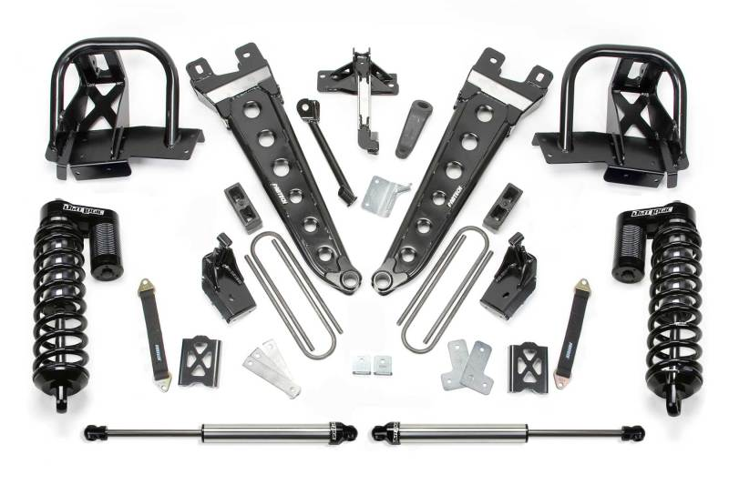 Fabtech 05-07 Ford F250 4WD w/o Overload 6in Radius Arm System w/DL 4.0 Coilovers & Rear DL Shocks