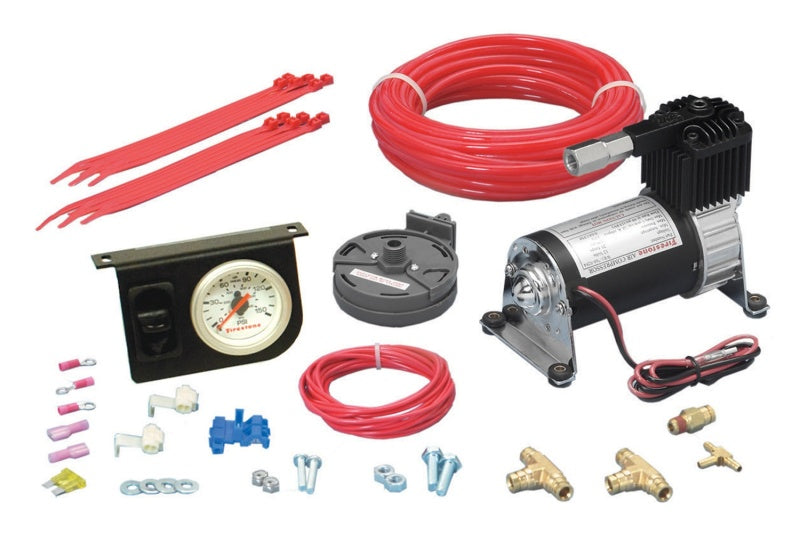 Firestone Level Command II Standard Duty Single Analog Air Compressor System Kit (WR17602158)