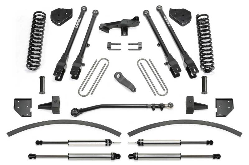 Fabtech 17-20 Ford F250/350 4WD Diesel 8in 4 Link System w/DL Shocks