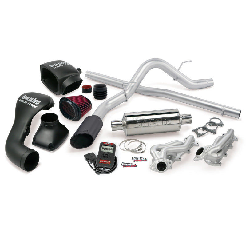 Banks Power 04-08 Ford 5.4L F-150 ECSB PowerPack System - SS Single Exhaust w/ Black Tip