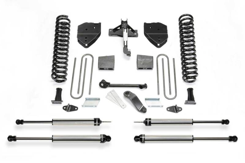 Fabtech 17-19 Ford F250/350 4WD Gas 4in Basic System w/DL Shocks