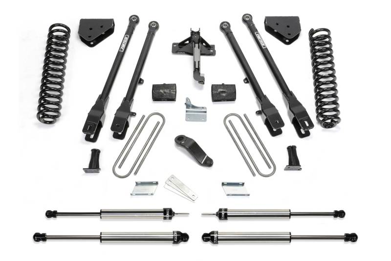 Fabtech 08-16 Ford F350/450 4WD 8 Lug 6in 4 Link System w/DL Shocks