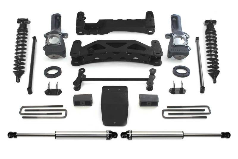 Fabtech 04-08 Ford F150 4WD 6in Perf. System w/DL 2.5 Coilovers & Rear DL Shocks