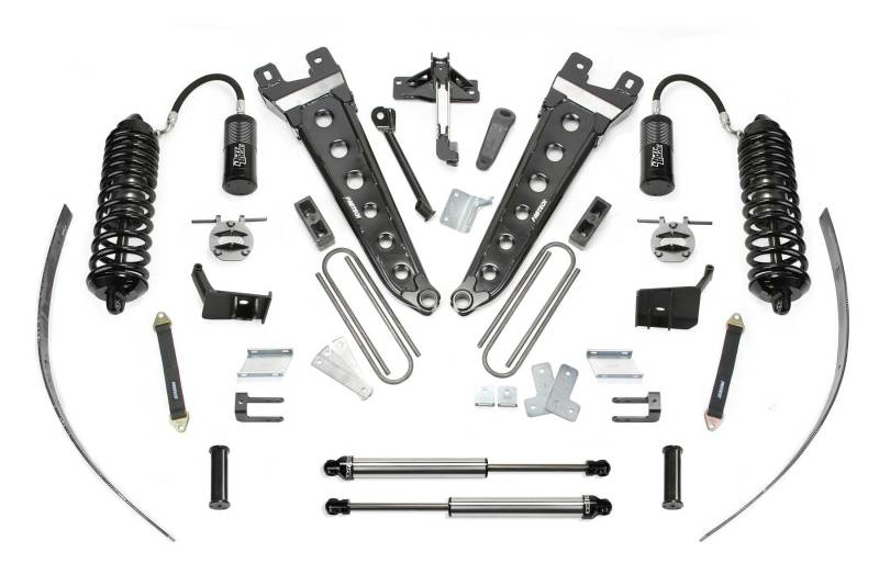 Fabtech 11-16 Ford F250 4WD w/Overload 8in Radius Arm System w/DL 4.0 Resi Coilover & Rear DL Shocks