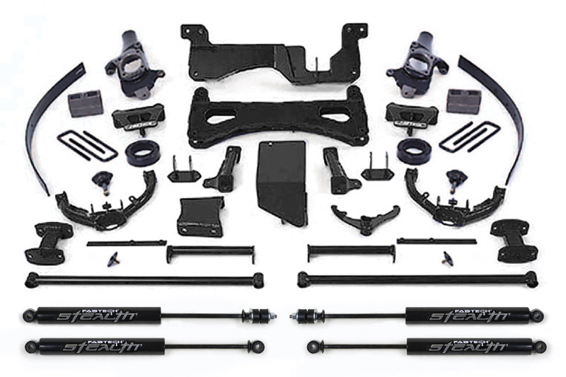 Fabtech 07-08 GM C/K2500HD C/K3500 Non Dually 8in Perf. System w/Stealth Shocks