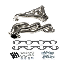 Load image into Gallery viewer, BBK 87-95 Ford F150 Truck 5.8 351 Shorty Unequal Length Exhaust Headers - 1-5/8 Chrome