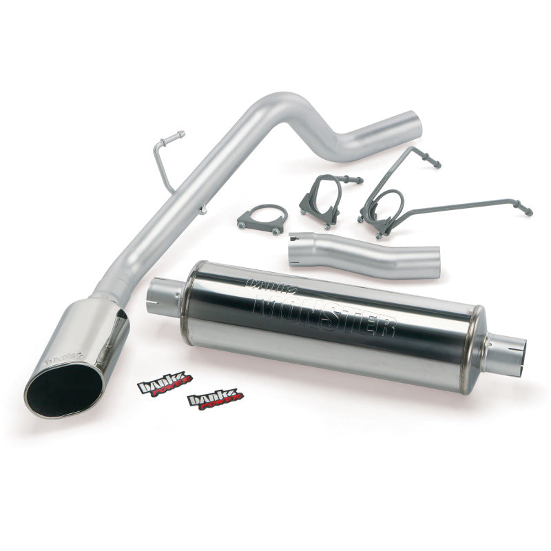 Banks Power 02-03 Dodge 4.7L 1500-CCSB Monster Exhaust System - SS Single Exhaust w/ Chrome Tip