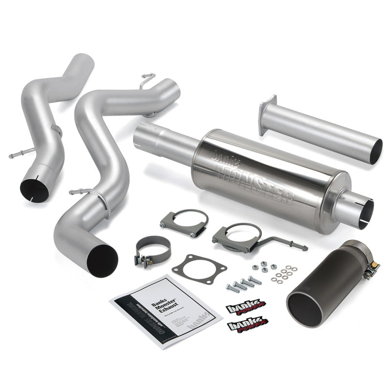 Banks Power 06-07 Chevy 6.6L ECLB Monster Exhaust System - SS Single Exhaust w/ Black Tip