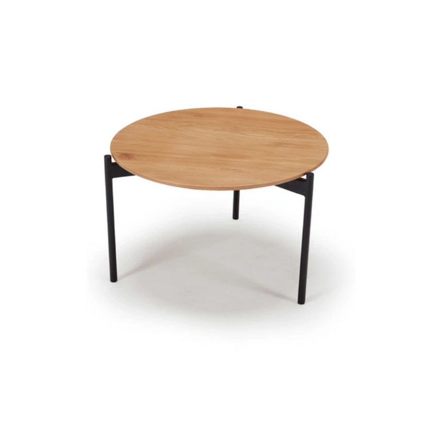 Circle Oak Coffee Table (Option for nest)