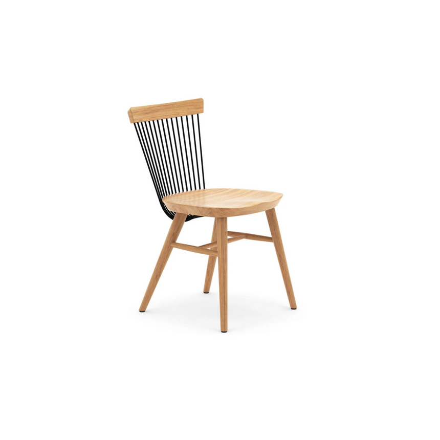 WW Dining Chair - Oak and Black