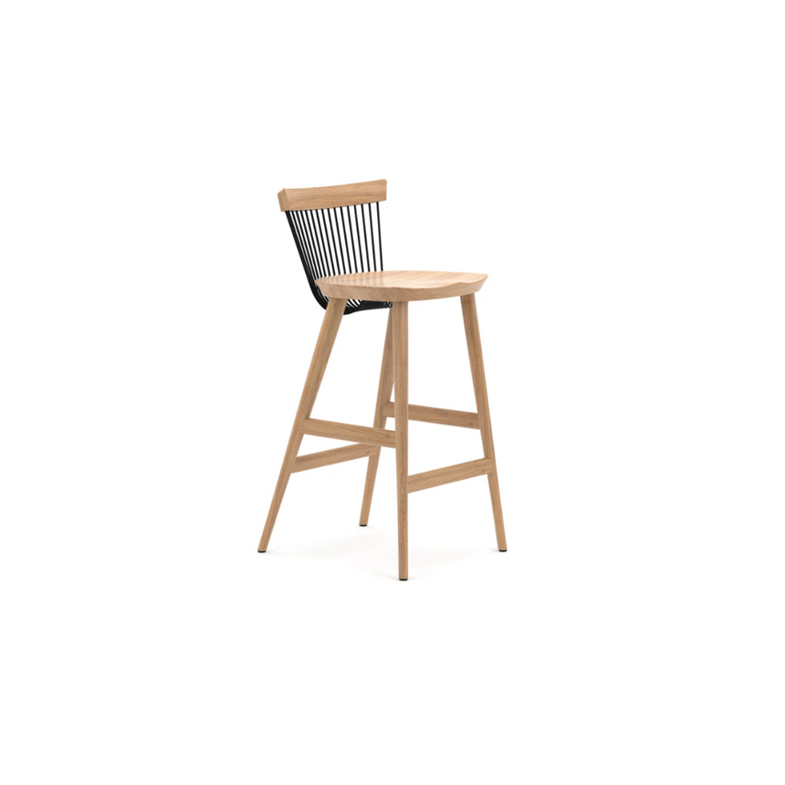 WW Bar Stool - Oak and Black